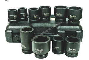 A86850 - 10 PC 1\ SQ. DR. 6PT. IMPACT SOCKET SET SAE
