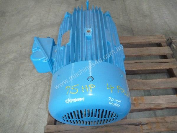 TOSHIBA 75HP 3 PHASE ELECTRIC MOTOR/ 1420RPM