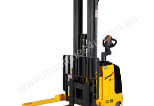 1.0t - 3.7m Walk Behind Stacker - NEW BATTERY