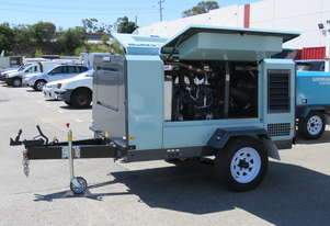 AIRMAN PDS185SC-6C2-T 185cfm Trailer mounted Portable Diesel Air Compressor w/ Aftercooler