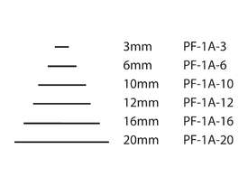 Pfeil Short Bent Shaft Chisels - 6mm - #1A - picture2' - Click to enlarge
