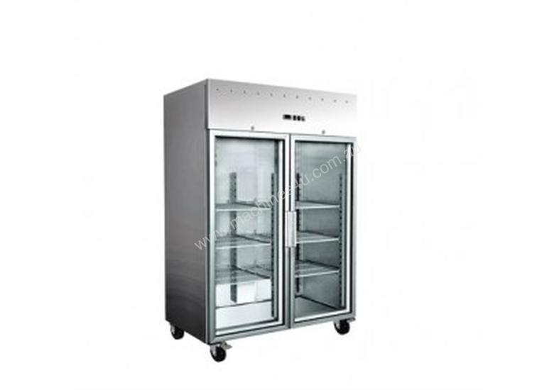 EXQUISITE - GSC1410G - COMMERCIAL KITCHEN UPRIGHT GASTRONORM CHILLERS WITH GLASS DOORS