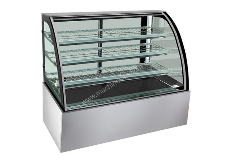 F.E.D. H-SL840 Bonvue Heated Curved Glass Food Display - 1200mm