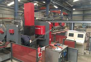 Used Voortman model V550-10 CNC Punching and Shearing System