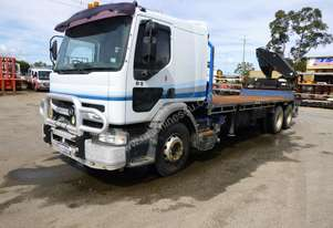 2001 Mack Premium 6x2 Flat Bed Rear Mounted Knuckle Boom Crane Truck IN AUCTION