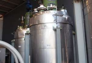 Glass Lined Jacketed Mixing Batch Reactor
