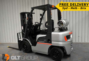 Used Forklift 2.5 Ton Nissan Container Mast LPG FREE DELIVERY OFFER SYD MELB BRIS