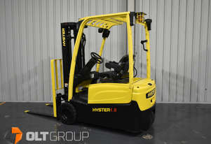 Hyster 3 Wheel Electric Forklift 1.8 Tonne Container Mast Integral Sideshift