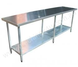 Brayco 2484 Flat Top Stainless Steel Bench (610mmW