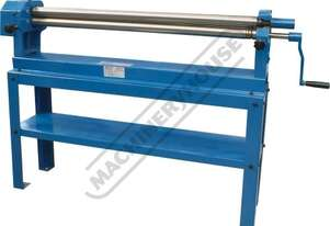 SRG-40 Manual Sheet Metal Curving Rolls 1000 x 1.2mm Mild Steel Capacity Includes Wiring Grooves & Q