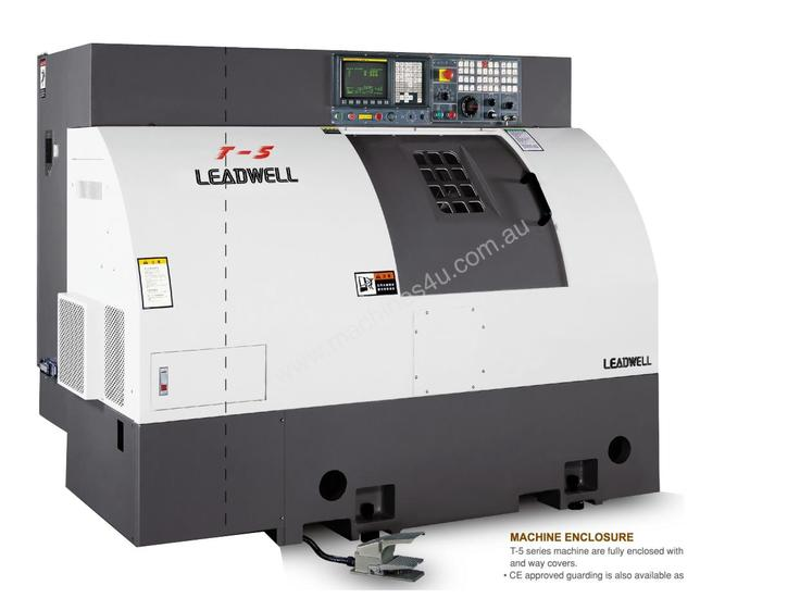 LEADWELL T-5 SLANT BED LINEAR GUIDE CNC LATHE