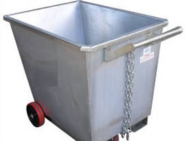 Light Weight Forklift Skip Waste Bin 0.5m2 with Wh - picture3' - Click to enlarge