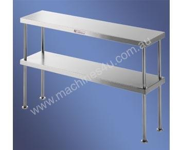S/Steel Double Bench Overshelf
