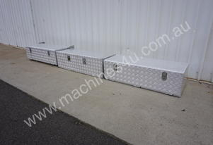 Alloy Chequerplate Lockable Toolboxes
