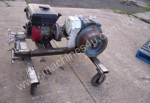 captan winch , 9hp petrol ,on trolley