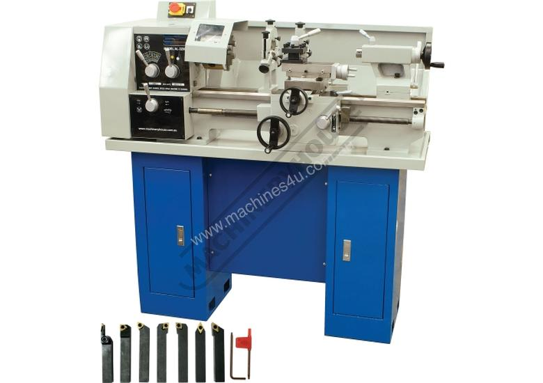 AL-320G Bench Lathe Package 320 x 600mm Turning Capacity Includes Stand & Tooling