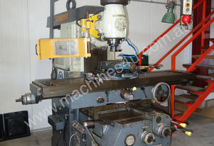 Universal Milling Machine with Vertical Head