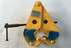 Beam Girder Clamp 3 Ton Austlift for Block & Tackle lifting mount Yellow