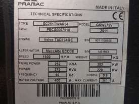 Used, Pramac GSW275V Generator, 2011 Model - picture2' - Click to enlarge