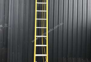 NEW 12 Step Fibreglass Extension Ladders