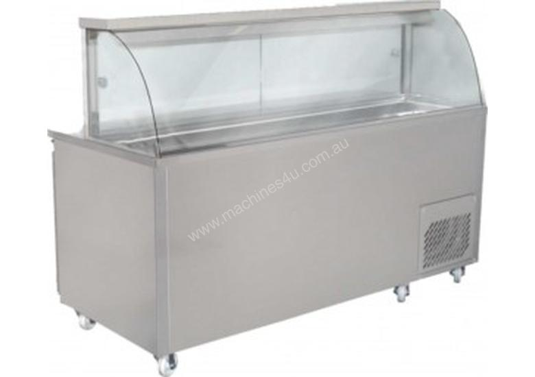 Woodson Curved Glass Sandwich Preparation Fridge