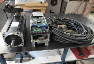 AC Servo Motor 1.3Kw Drive and Cables