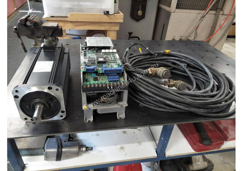Used yaskawa ac servo motor 1 3kw drive and cables for Servo motors and drives inc