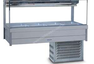 Roband SRX24RD Square Glass Cold Food Bar