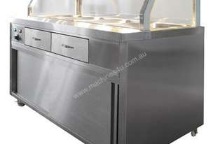 F.E.D. PG150FE-Y Heated Bain Marie Glass Top Food Display