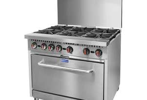 F.E.D. S36 Gasmax 6 Burner with Oven