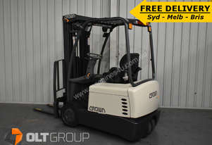 Crown Electric Forklift For Sale 3 Wheel 1450kg Container Mast ONLY 358 HRS