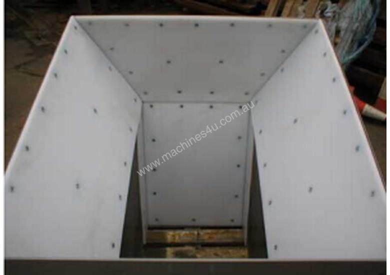Hopper liner, Bin Liner and Flow Liners CNC routed