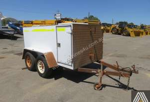 2013 CROWN CUSTOM TANDEM AXLE ENCLOSED SERVICE TRAILER