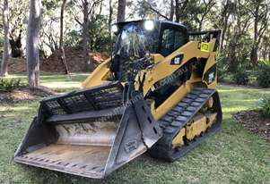 Caterpillar 299c compact track loader posi track.