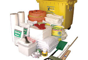 Oil & Fuel Spill Kit. 1,270L absorbent capacity – Large mobile bin