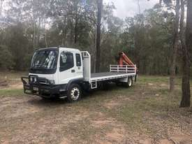 Crane truck Isuzu ftr 900 2006 fitted with a palfinger pk 8500 . Very good condition comes with work - picture0' - Click to enlarge