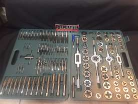 115 Pce Metric & SAE Tap & Die Threading Set -  In a toughened Plastic Case. - picture0' - Click to enlarge