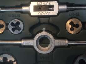 115 Pce Metric & SAE Tap & Die Threading Set -  In a toughened Plastic Case. - picture5' - Click to enlarge
