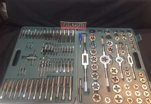 115 Pce Metric & SAE Tap & Die Threading Set -  In a toughened Plastic Case.