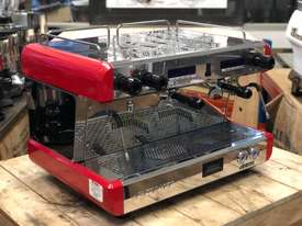 BOEMA CONTI CC100 2 GROUP RED ESPRESSO COFFEE MACHINE  - picture0' - Click to enlarge