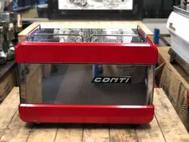 BOEMA CONTI CC100 2 GROUP RED ESPRESSO COFFEE MACHINE  - picture6' - Click to enlarge