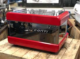 BOEMA CONTI CC100 2 GROUP RED ESPRESSO COFFEE MACHINE  - picture7' - Click to enlarge