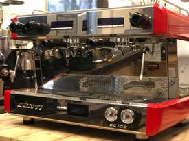 BOEMA CONTI CC100 2 GROUP RED ESPRESSO COFFEE MACHINE  - picture10' - Click to enlarge