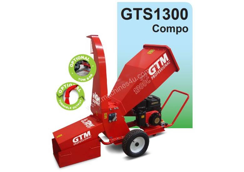 GTM GTS1300 COMPO WOOD CHIPPER