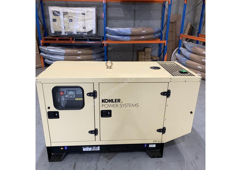 KOHLER KM22 IV 22kVA DIESEL GENERATOR ENCLOSED WATER COOLED | Made in France |