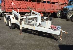 6ton self loader , drum drive , 13 hp honda , ex power line co