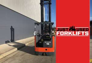 TOYOTA 6FBRE16 36076 1.6 TON 1600 KG CAPACITY REACH TRUCK FORKLIFT *** NEW BATTERY***