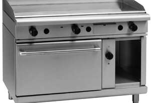 Waldorf 800 Series GPL8121GEC - 1200mm Gas Griddle Electric Convection Oven Range Low Back Version