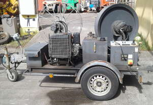 3kn / 10kn fibre capstan winch , diesel , rope recovery
