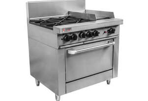2 Open top burners, 600mm Griddle
